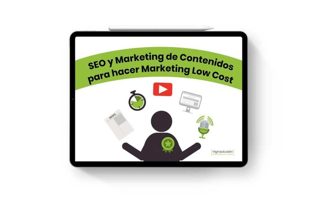 Ebook SEO y Marketing de contenidos para hacer Marketing low cost